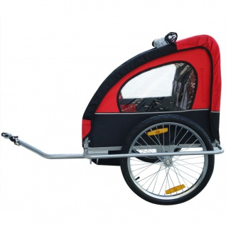 vidaXL Kinder Fahrradanhänger mit zusätzlicher Kupplung Rot 36 kg - Vorschau 5