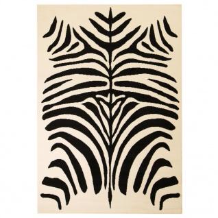 vidaXL Teppich Modern Zebrafell-Optik 160 x 230 cm Beige/Schwarz