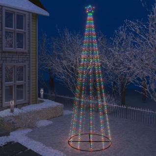 vidaXL Weihnachtsbaum Kegelform 752 Bunte LEDs Deko 160x500 cm