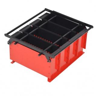 vidaXL Papierbrikettpresse Stahl 38 x 31 x 18 cm Schwarz und Rot