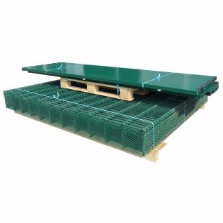 vidaXL Doppelstabmattenzaun Gartenzaun & Pfosten 2008x2030 mm 50m Grün
