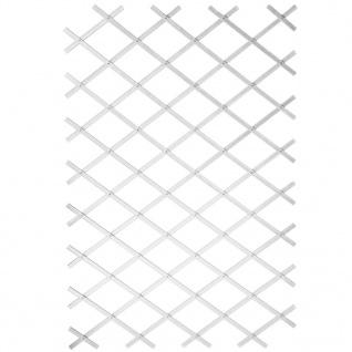 Nature Garten-Rankgitter 50x150 cm PVC Weiß 6040701
