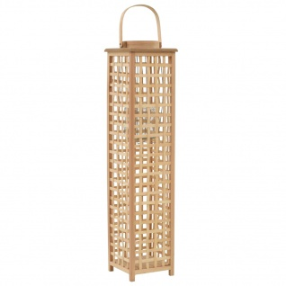vidaXL Hängender Kerzenleuchter Bambus Natur