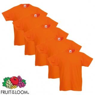 Fruit of the Loom Kinder-T-Shirt Original 5 Stk. Orange Größe 140