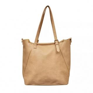 Quadratische Damentasche Schultertasche Beige