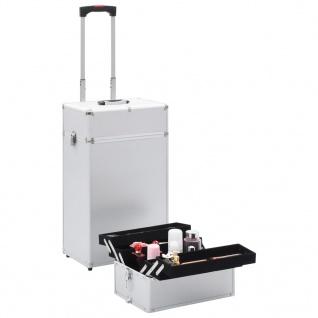 vidaXL Kosmetikkoffer Aluminium Silbern - Vorschau 2