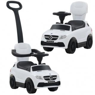 vidaXL Kinder-Aufsitzauto mit Schiebestange Mercedes Benz GLE63 Weiß