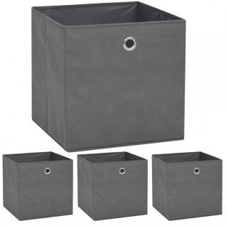 vidaXL Aufbewahrungsboxen 4 Stk. Vliesstoff 32 x 32 x 32 cm Grau