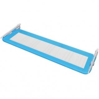 vidaXL Kleinkind Bettschutzgitter 2 Stück Blau 150 x 42 cm - Vorschau 5