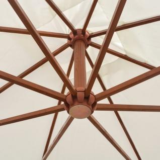 vidaXL Sonnenschirm Ampelschirm 300 x 300 cm Holzmast Weiß - Vorschau 2