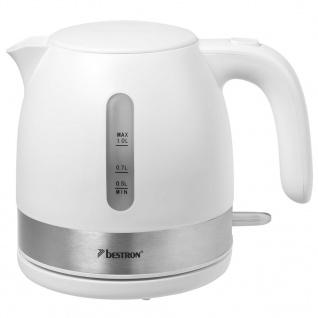 Bestron Elektrischer Wasserkocher 2150 W 1 L Weiß AWK1000W - Vorschau 4
