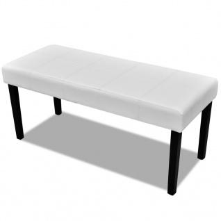 Sitzbank aus hochwertigem Kunstleder weiß