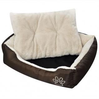 Hundebett mit weicher Polsterung Größe XL Braun