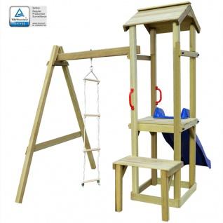 vidaXL Spielturm mit Rutsche und Leiter 228×168×218 cm Holz