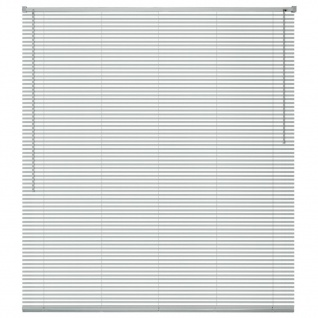 vidaXL Fensterjalousien Aluminium 140x130 cm Silber