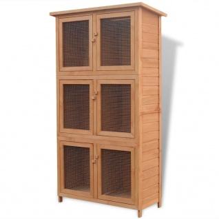 vidaXL Kleintier-/Kaninchenstall 6 Boxen Holz