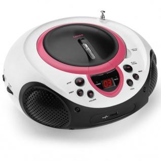 Lenco Radio CD-Player SCD-38 rosa und weiß A001219