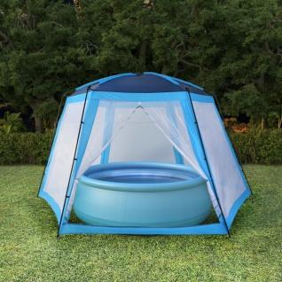 vidaXL Poolzelt Stoff 590 x 520 x 250 cm Blau