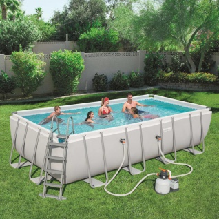 Bestway Power Steel Swimmingpool-Set Rechteckig 549×274×122 cm 56466
