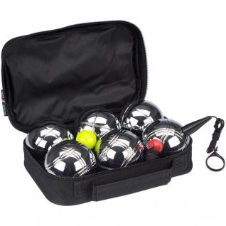Get & Go Spiel Boule-Set V 6 Kugeln Silber