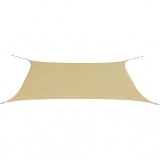 vidaXL Sonnensegel Oxford Gewebe Rechteckig 4 x 6 m Beige