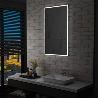 vidaXL Badezimmer-Wandspiegel mit LED 60 x 100 cm