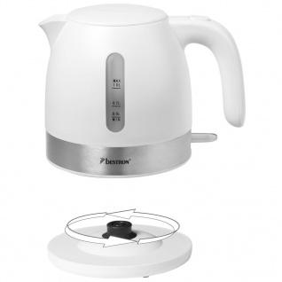 Bestron Elektrischer Wasserkocher 2150 W 1 L Weiß AWK1000W - Vorschau 5