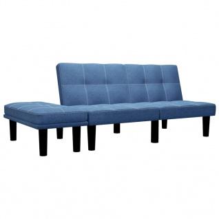 vidaXL 2-Sitzer-Sofa Blau Stoff