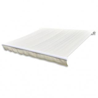 vidaXL Markisenstoff Sonnenschutz Cremefarben 4×3 m (ohne Rahmen)