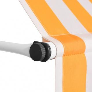vidaXL Einziehbare Markise Handbetrieben 300 cm Gelb/Weiß Gestreift - Vorschau 3