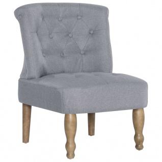 vidaXL Französische Stühle 2 Stk. Hellgrau Stoff - Vorschau 4