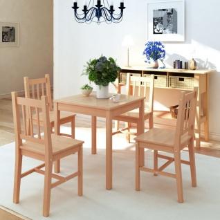 vidaXL Fünfteiliges Esstisch-Set Pinienholz