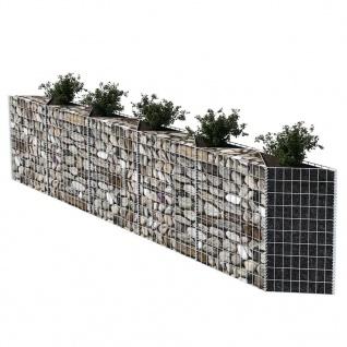 vidaXL Gabionenkorb Pflanzkasten Gemüse-Hochbeet Stahl 300×30×100 cm - Vorschau 3