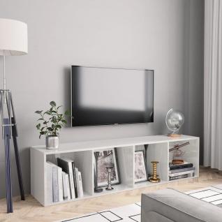 vidaXL Bücherregal/TV-Schrank Hochglanz-Weiß 143×30×36 cm