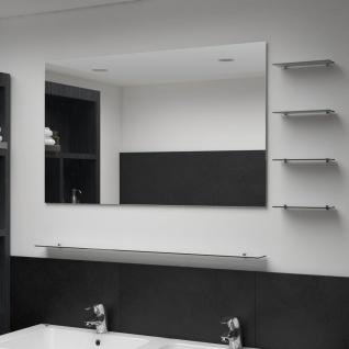 vidaXL Wandspiegel mit 5 Ablagen Silbern 100×60 cm