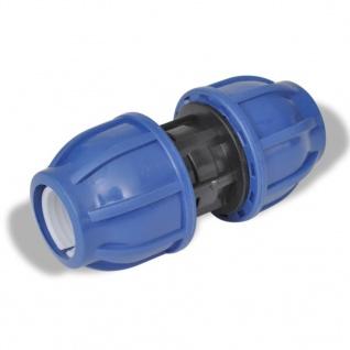 2 Stück PE Rohr beidseitige Verschraubung mit 20mm