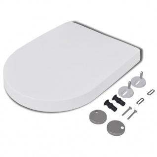 vidaXL Toilettensitze mit Absenkautomatik 2 Stk. Kunststoff Weiß - Vorschau 3