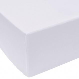 vidaXL Spannbettlaken 2 Stück 200x220 cm Baumwolle Weiß