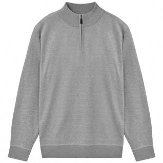 vidaXL Herren Pullover Sweater mit Reißverschluss Grau XXL