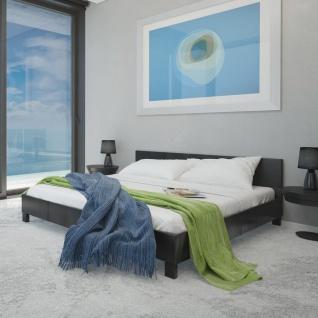 vidaXL Bett mit Memory-Schaum-Matratze Schwarz Kunstleder 140×200 cm
