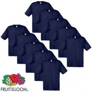 Fruit of the Loom Original T-Shirt 10 Stk 100% Baumwolle Navy XL