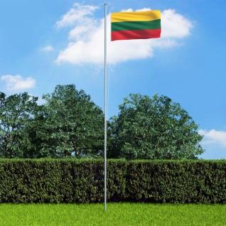 vidaXL Flagge Litauens und Mast Aluminium 6, 2 m