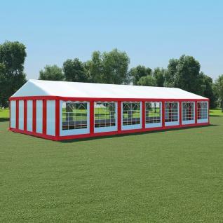 vidaXL Gartenzelt PVC 6x14 m Rot und Weiß
