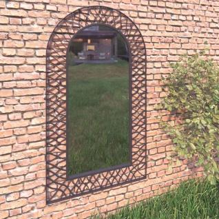 vidaXL Garten-Wandspiegel Gewölbt 60 x 110 cm Schwarz