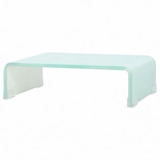vidaXL TV-Tisch/Bildschirmerhöhung Glas Weiß 40x25x11 cm