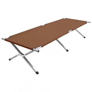 vidaXL Campingbett 210x80x48 cm XXL Braun