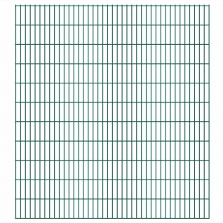 vidaXL 2D Gartenzaun-Elemente 2, 008x2, 23 m Gesamtlänge 44 m Grün