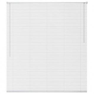 vidaXL Fensterjalousien Aluminium 120x160 cm Weiß