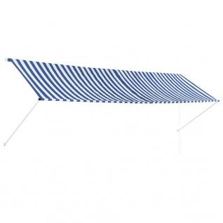 vidaXL Einziehbare Markise 400 x 150 cm Blau und Weiß