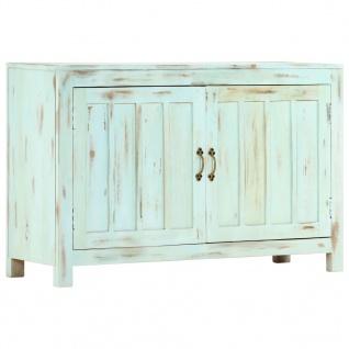vidaXL Sideboard Hellblau 110×35×70 cm Massivholz Mango